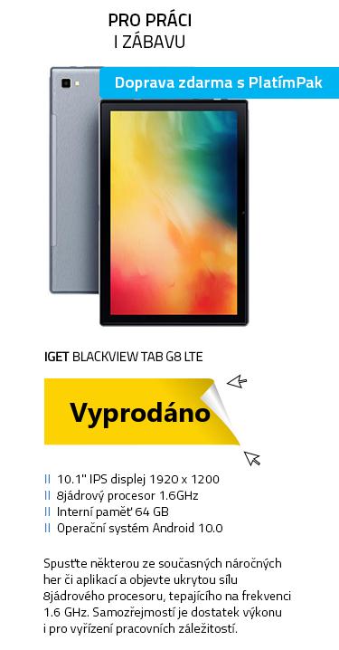 iGET Blackview TAB G8 LTE šedá