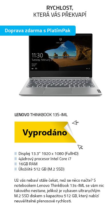 Notebook Lenovo ThinkBook 13s-IML šedá