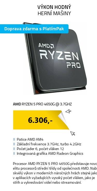 AMD RYZEN 5 PRO 4650G @ 3.7GHz