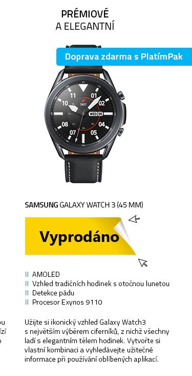 Chytré hodinky SAMSUNG Galaxy Watch 3 (45 mm) černá