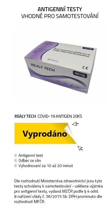 Antigenní COVID-19 Antigen REALY TECH 20ks