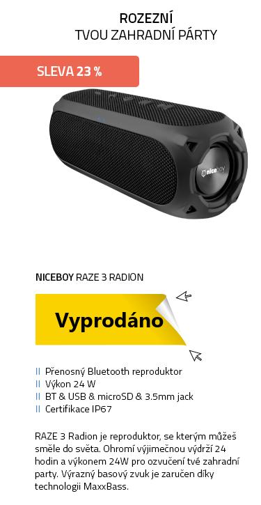 Niceboy RAZE 3 Radion černá