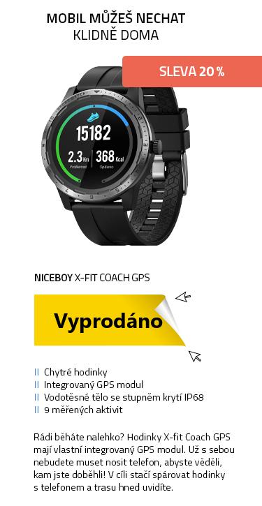 Chytré hodinky Niceboy X-fit Coach GPS černá