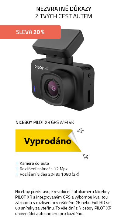 Niceboy PILOT XR GPS WiFi 4K (s magnetickým držákem)