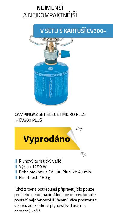 CAMPINGAZ SET Bleuet Micro Plus + CV300 Plus