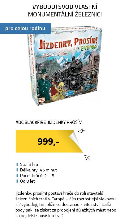 ADC Blackfire Jízdenky prosím! Evropa