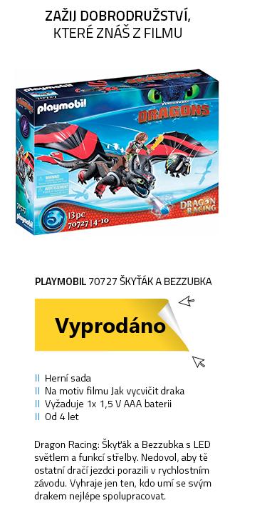 Playmobil Dragon Racing 70727 Dragon Racing: Škyťák a Bezzubka