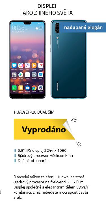 Mobilní telefon - HUAWEI P20 Dual SIM modrá