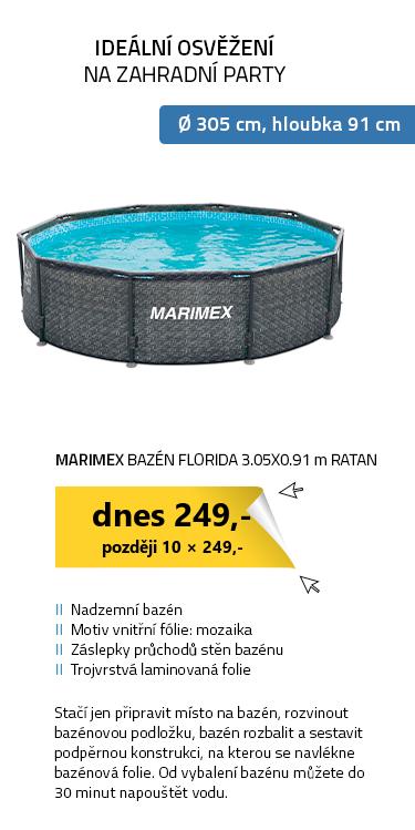 Marimex bazén Florida 3.05x0.91 m RATAN bez příslušenství