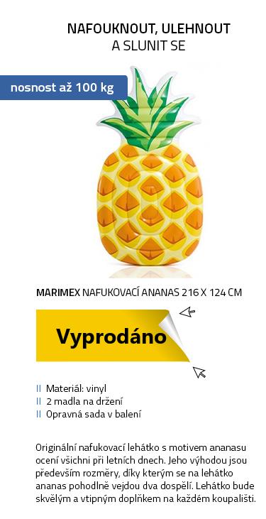 Marimex lehátko nafukovací ANANAS 216 x 124 cm