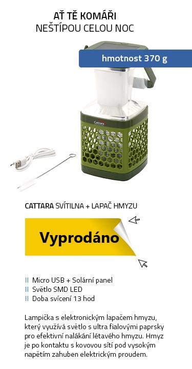 Cattara Svítilna MIDGE BLOCK nabíjecí + lapač hmyzu