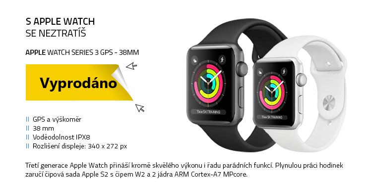 Chytré hodinky Apple Watch Series 3 GPS 38mm
