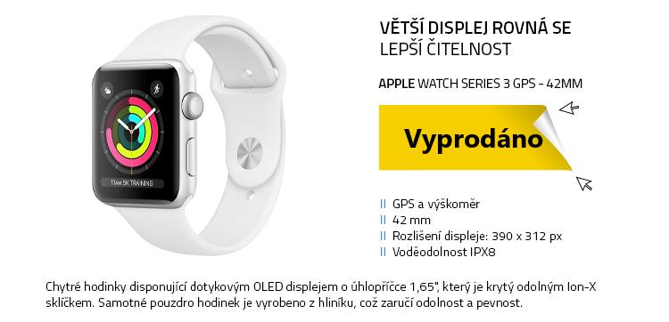 Chytré hodinky Apple Watch Series 3 GPS 42mm