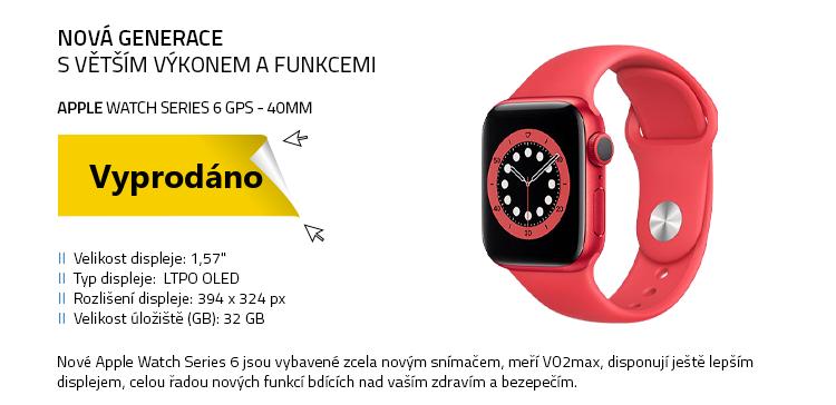 Chytré hodinky Apple Watch Series 6 GPS 40mm