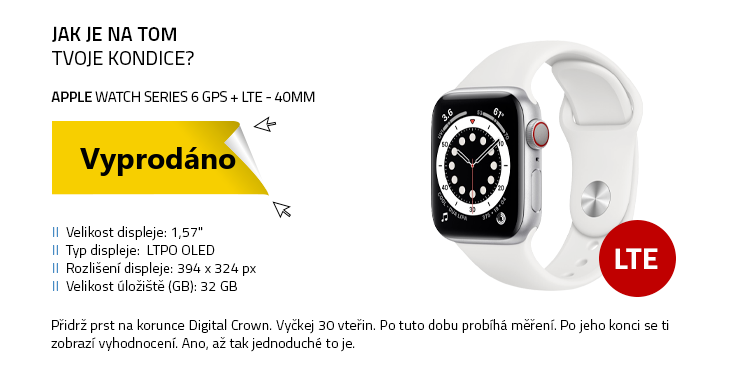 Chytré hodinky Apple Watch Series 6 GPS+LTE 40mm