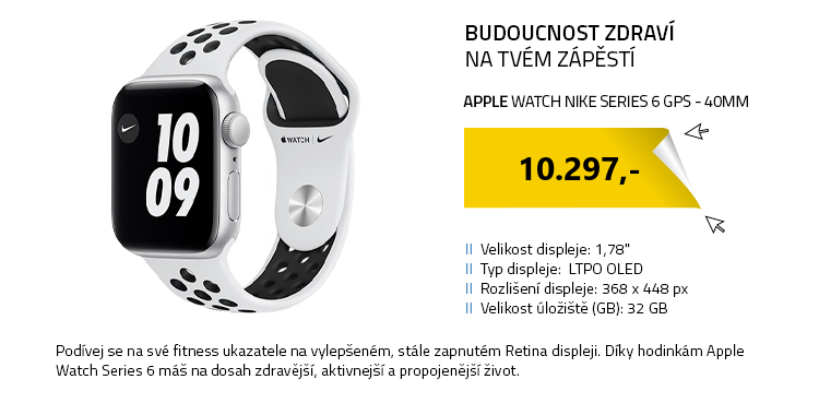 Chytré hodinky Apple Watch Nike Series 6 GPS 40mm