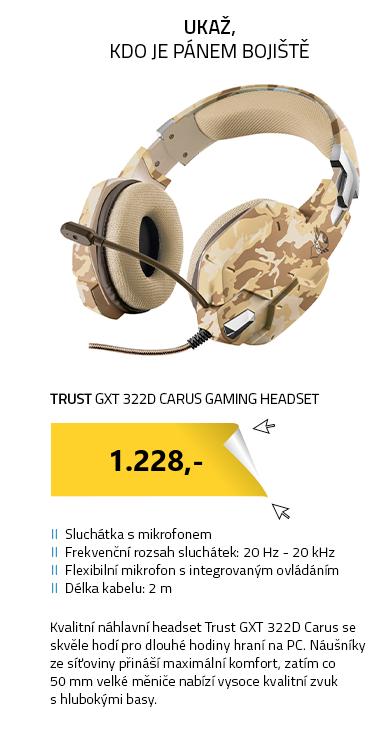 Trust GXT 322D Carus Gaming Headset - desert camo