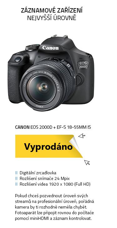Canon EOS 2000D + EF-S 18-55mm IS + LP-E10