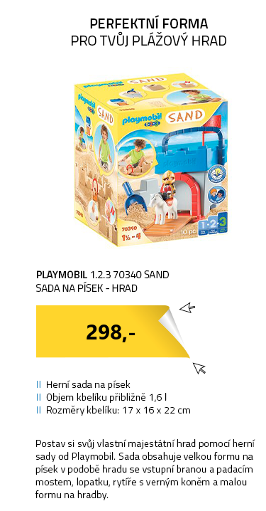 Playmobil 1.2.3 70340 SAND Sada na písek - Hrad