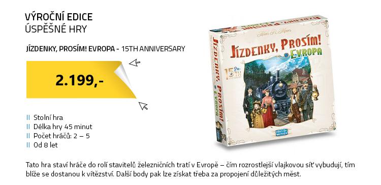 Jízdenky , prosím! Evropa - 15th anniversary
