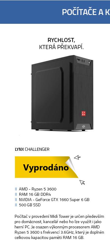 Počítač LYNX Challenger černá
