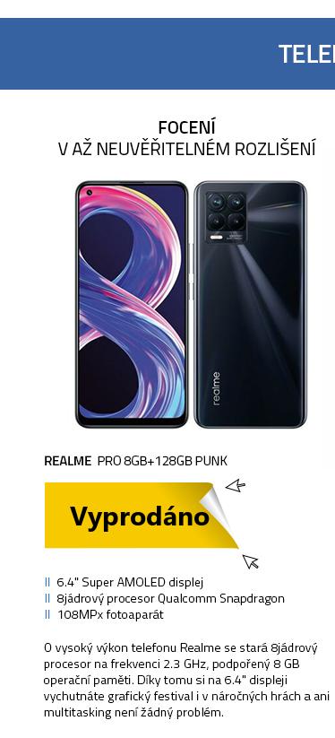 Realme Pro 8 GB + 128 GB Punk