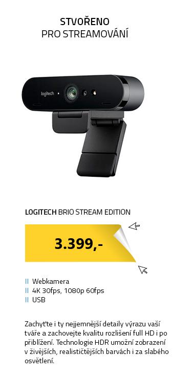 Webkamera Logitech Brio Stream Edition