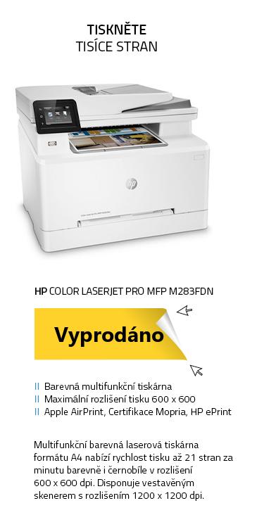 Multifunkční tiskárna HP Color LaserJet Pro MFP M283fdn
