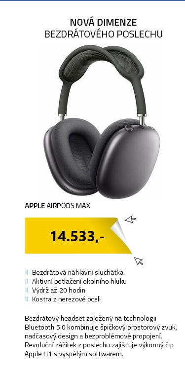 Apple AirPods Max šedá