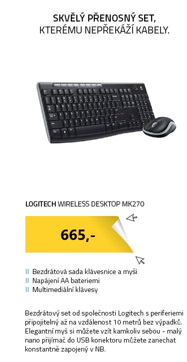 Logitech Wireless Desktop MK270 - CZ
