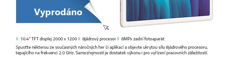 SAMSUNG Galaxy Tab A7 Wi-Fi 32GB stříbrná