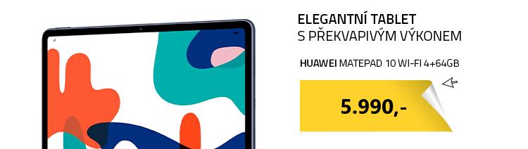 HUAWEI MatePad 10 Wi-Fi 4+64GB šedá