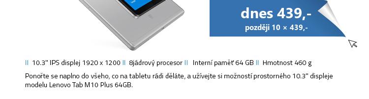 Lenovo Tab M10 Plus 64GB šedá
