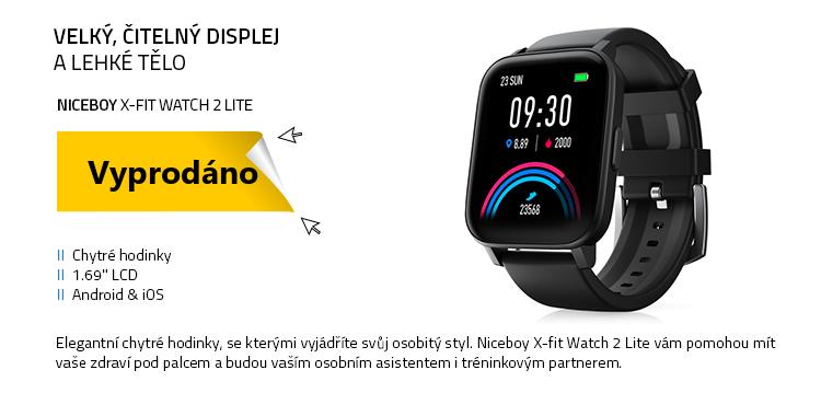Niceboy PILOT Q9 RadChytré hodinky Niceboy X-fit Watch 2 Lite černar (s hlášením radarů)