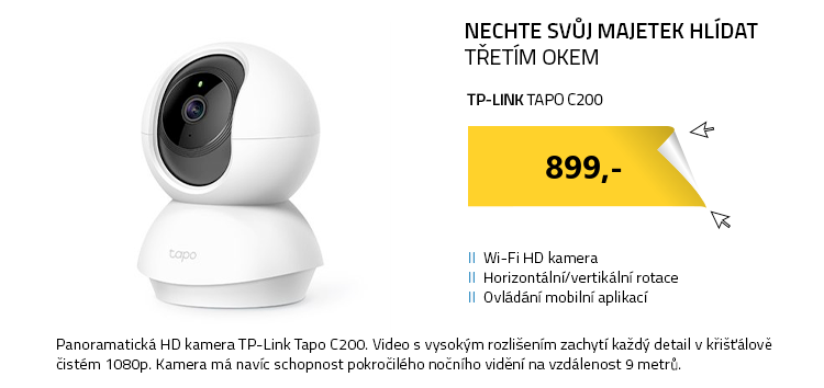 TP-Link Tapo C200 bílá