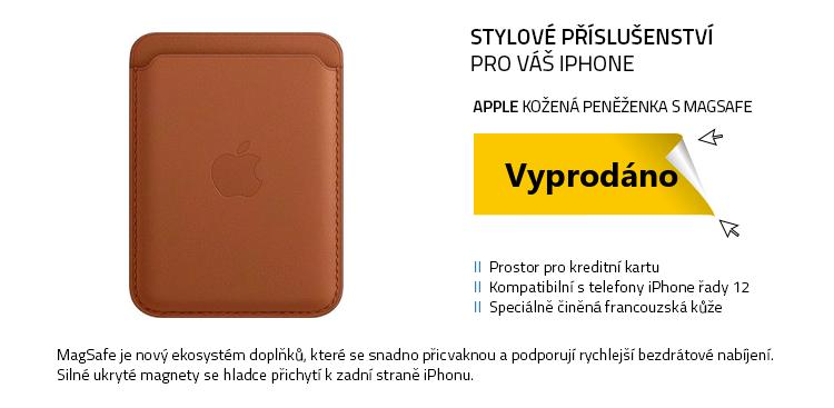 Apple Kožená peněženka s MagSafe k iPhonu