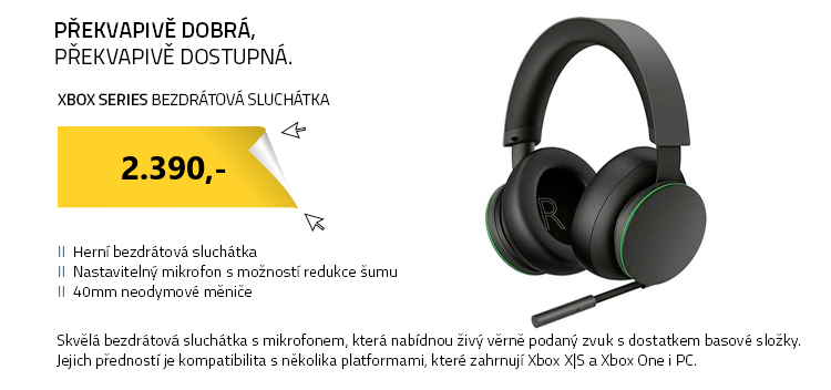 Xbox Series Bezdrátová sluchátka s mikrofonem