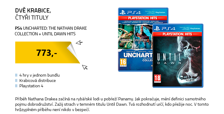 PS4 Uncharted: The Nathan Drake Collection a Until Dawn HITS