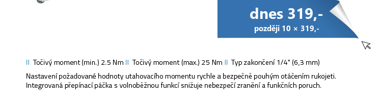 """HAZET 5108-2CT Momentový klíč - 1 4"""""""